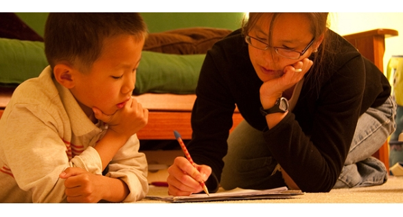 dạy chữ cho con